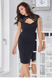 jessica wright tracey black lace peephole sweetheart neckline