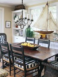 Nautical Dining Room Nautical Dining Room With Farmhouse Table Is So Inviting Via Bh G