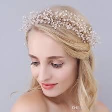 bridesmaid hair accessories gold tiaras clear 2017 new hair accessories wedding crystals
