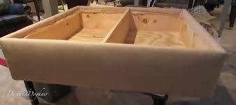 Diy Storage Ottoman Diy Tufted Top Storage Ottoman With Repurposed Coffee Sacks