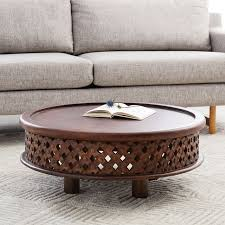 Wood Coffee Table Carved Wood Coffee Table West Elm