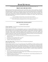recruiter resume example employment resume template image result