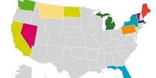 visited states map top 12 u s states visited by canadians toronto sun
