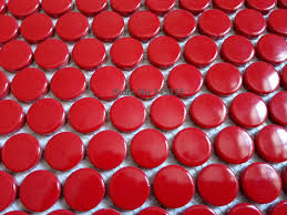 Red Mosaic Tile Backsplash by Online Get Cheap Penny Mosaic Tiles Aliexpress Com Alibaba Group