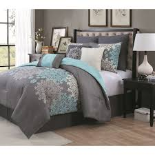 Aqua Bedroom Decor by Made With An Elegant Design This Comforter Will Complement The