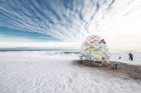 snowcone transforms a lifeguard station into an igloo