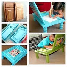 Diy Kid Desk Diy Toddler Desk Children Desk Made Out Of Cabinet Door