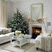 Interior Design Christmas Decorating For Your Home Interior Fancy Design Using Christmas Tree With White Ball