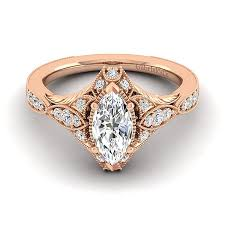 vintage rose rings images Windsor 14k rose gold marquise halo engagement ring jpg