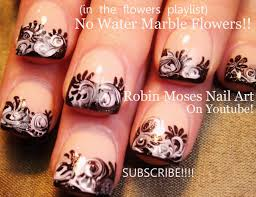 robin moses nail art no water marble nail art design tutorial