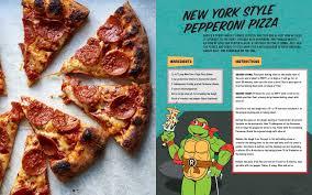 teenage mutant ninja turtles pizza cookbook book peggy