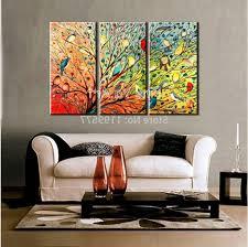 Art For Living Room Living Room 3 Piece Canvas Art White Ceramic Floor White Wall