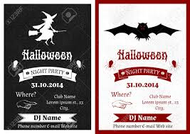 black and white vintage halloween images set of black and white vintage halloween party invitation royalty