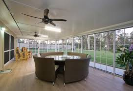 Enclosed Patio Design Outdoor Ceiling Fan With Light And White Ceiling Plus Enclosed