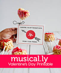 musical ly valentine u0027s day printable
