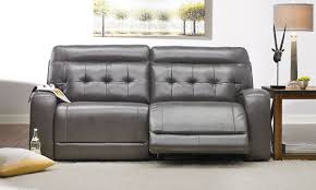 tufted dual power reclining sofa in grey the dump america u0027s