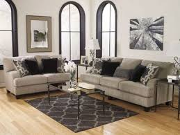 VISTACONTEMPORARY GRAY MICROFIBER SOFA COUCH LOVESEAT SET LIVING - Microfiber living room sets