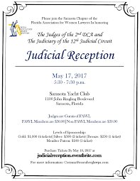 Florida Dca Map by Judicial Reception Tickets Wed May 17 2017 At 5 30 Pm Eventbrite