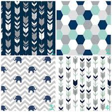 Navy Blue Curtains For Nursery Boy Nursery Curtains Arrow Curtains Elephant Curtains Navy
