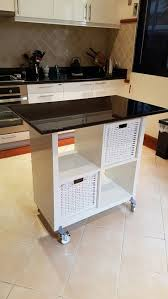 kitchen marvelous counter height bench ikea raskog cart ikea