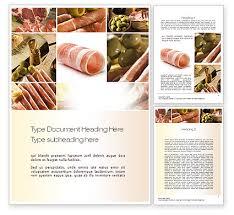 charcuterie recipes word template 10785 poweredtemplate com