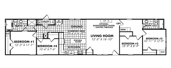 4 bedroom single wide floor plans awesome 4 bedroom single wide mobile home floor plans selection