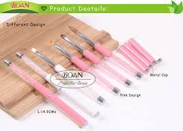 bqan pink crystal rhinestone metal handle 3d nail art supplies for