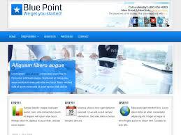 joomla blank template blue point business joomla theme free