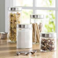 glass kitchen canister sets wayfair basics wayfair basics 4 top glass
