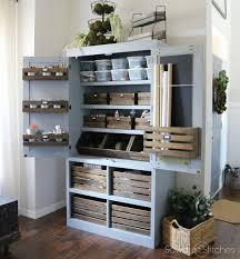 Interior Stitches Free Standing Pantry With Crate Organization Sawdust 2 Stitches