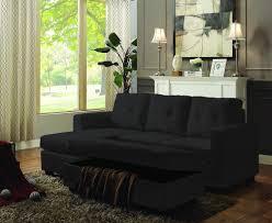 Fabric Storage Ottoman by Fiona Black Woven Fabric Reversible Sofa Sectional W Storage Ottoman