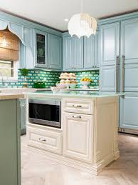 kitchen colors color schemes and designs view in gallery powder blue kitchen with blue green white fused glass tile backsplash