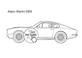 car aston martin dbs coloring page for kids 3 printable free