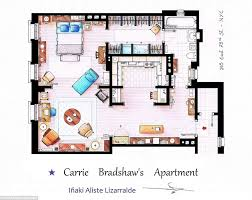How To Sketch A Floor Plan Artists Sketch Floorplan Of Friends Apartments And Other Famous Tv
