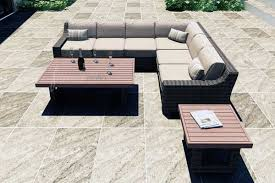 Outdoor Patio Furniture Sectional Seating Wicker Patio Furniture Sets I Spacious Design