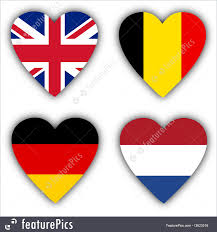 Flags Of Countries Flags In The Shape Of A Heart Countries Photo