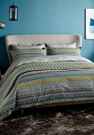Turquoise Chevron Duvet Cover Buy Harlequin Chevron Zig Zag Duvet Cover Set Blue Mcelhinneys