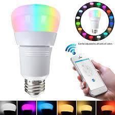 alexa controlled light bulbs e27 smart led bulb wifi remote control rgb light for echo alexa
