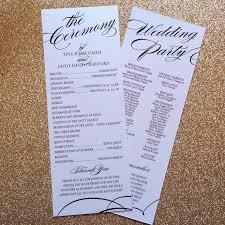 sles of wedding programs wedding program sles 28 images 20 sale custom printable