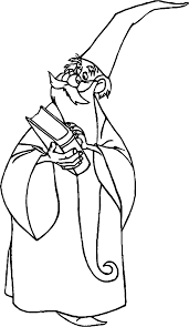 the sword in the stone magician merlin book coloring pages