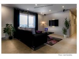 salon avec canapé noir salon moderne canapé noir lucile tréguer décoratrice d intérieur