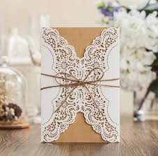 where to get wedding invitations brown paper laser cut wedding invitations cards birthday