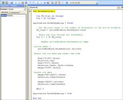 excel spreadsheets help basic excel vba macro loop through all