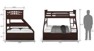 Barnley Single Over Queen Storage Bunkbed Urban Ladder - Queen single bunk bed