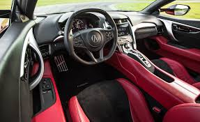 acura inside 2017 acura nsx in depth model review car and driver