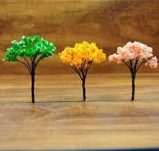 artificial mini trees craft garden miniatures for terrariums