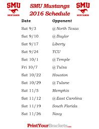 mustang football schedule printable smu mustangs football schedule 2016 https fanprint
