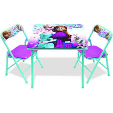 Outdoor Childrens Table And Chairs Disney Frozen Activity Table Set Walmart Com