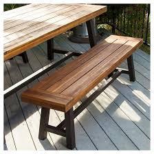 carlisle 3pc rustic wood patio dining set brown black