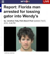 Florida Man Meme - wftv9abe live report florida man arrested for tossing gator into